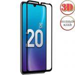 Защитное стекло 3D для Huawei Honor 20S / 20 Lite [изогнутое клеится на весь экран] Red Line (черное)