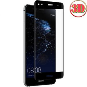 Защитное стекло 3D для Huawei P10 Lite [изогнутое на весь экран] (черное)