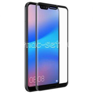 Защитное стекло 3D для Huawei P20 Lite [изогнутое на весь экран] Red Line (черное)