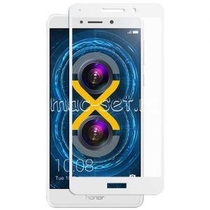 Защитное стекло для Huawei Honor 6X [на весь экран] (белое)