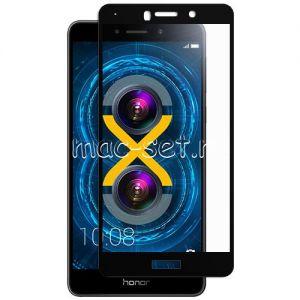 Защитное стекло для Huawei Honor 6X [на весь экран] (черное)