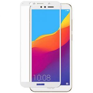 Защитное стекло для Huawei Honor 7A Pro [на весь экран] (белое)