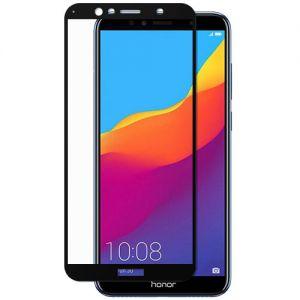 Защитное стекло для Huawei Honor 7A Pro [на весь экран] (черное)