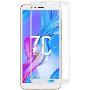 Защитное стекло для Huawei Honor 7C [на весь экран] (белое)