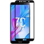 Защитное стекло для Huawei Honor 7C [на весь экран] (черное)