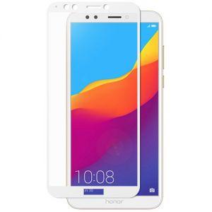 Защитное стекло для Huawei Honor 7C Pro [на весь экран] (белое)