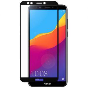 Защитное стекло для Huawei Honor 7C Pro [на весь экран] (черное)