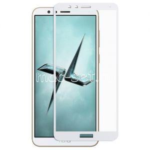 Защитное стекло для Huawei Honor 7X [на весь экран] (белое)