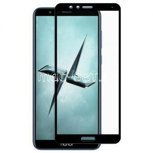 Защитное стекло для Huawei Honor 7X [на весь экран] (черное)