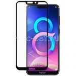 Защитное стекло для Huawei Honor 8C [на весь экран] (черное)