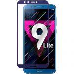 Защитное стекло для Huawei Honor 9 Lite [на весь экран] (синее)