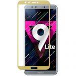 Защитное стекло для Huawei Honor 9 Lite [на весь экран] (золотистое)