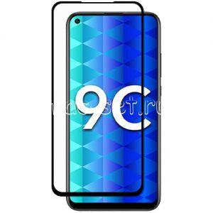Защитное стекло для Huawei Honor 9C [на весь экран] (черное)