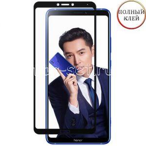 Защитное стекло для Huawei Honor Note 10 [клеится на весь экран] (черное)