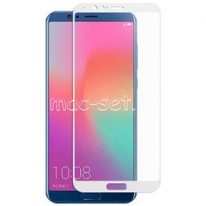 Защитное стекло для Huawei Honor View 10 [на весь экран] (белое)