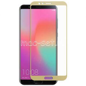 Защитное стекло для Huawei Honor View 10 [на весь экран] (золотистое)