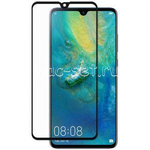 Защитное стекло для Huawei Mate 20 [на весь экран] (черное)