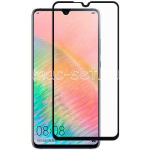 Защитное стекло для Huawei Mate 20X [на весь экран] (черное)