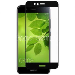 Защитное стекло для Huawei Nova 2 Plus [на весь экран] (черное)