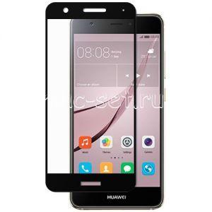 Защитное стекло для Huawei Nova [на весь экран] (черное)