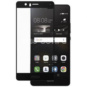 Защитное стекло для Huawei P9 Lite [на весь экран] (черное)