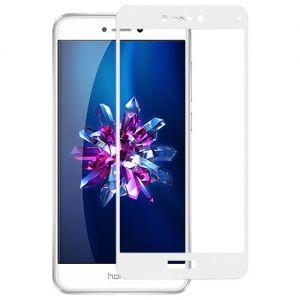 Защитное стекло для Huawei Honor 8 Lite [на весь экран] (белое)