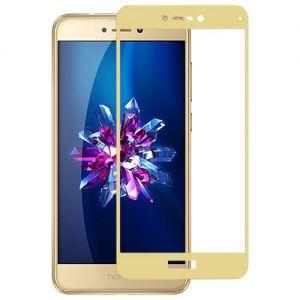 Защитное стекло для Huawei Honor 8 Lite [на весь экран] (золотистое)