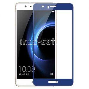 Защитное стекло для Huawei Honor 8 [на весь экран] Aiwo (синее)