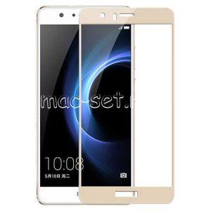 Защитное стекло для Huawei Honor 8 [на весь экран] Aiwo (золотистое)