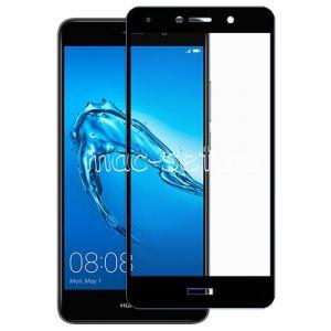 Защитное стекло для Huawei Y7 (2017) [на весь экран] (черное)