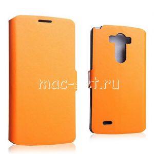 Чехол-книжка кожаный для LG G3 D855 / Dual D856 (оранжевый) Doormoon