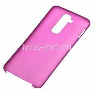 Чехол-накладка пластиковый для LG G2 D802 ультратонкий (малиновый)
