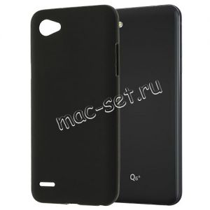 Чехол-накладка силиконовый для LG Q6a M700 (черный 0.8мм)