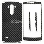 """Виниловая наклейка """"карбон"""" для LG G3 D855 / Dual D856 [комплект] (черная)"""