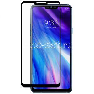 Защитное стекло для LG G7 ThinQ [на весь экран] (черное)