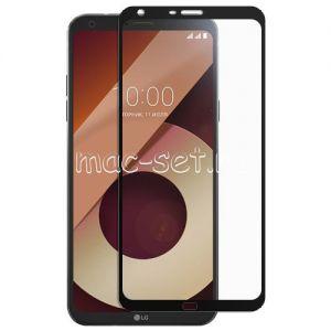 Защитное стекло для LG Q6a M700 [на весь экран] (черное)