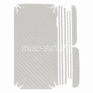 """Виниловая наклейка """"карбон"""" для LG G2 D802 [комплект] (белая)"""
