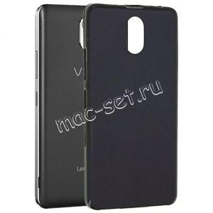 Чехол-накладка силиконовый для Lenovo Vibe P1m (черный 0.8мм) Soft-Touch