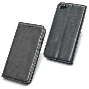 Чехол-книжка кожаный для Meizu U10 (черный) Book Case New
