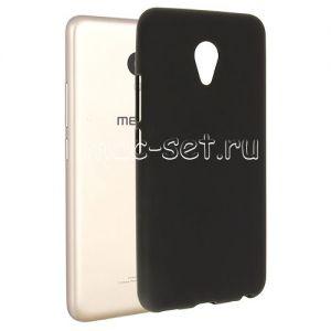 Чехол-накладка силиконовый для Meizu M5 (черный 0.8мм)