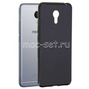 Чехол-накладка силиконовый для Meizu M3 Note (черный 0.8мм) Soft-Touch