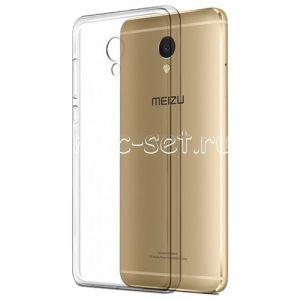 Чехол-накладка силиконовый для Meizu M5 Note (прозрачный 0.5мм)
