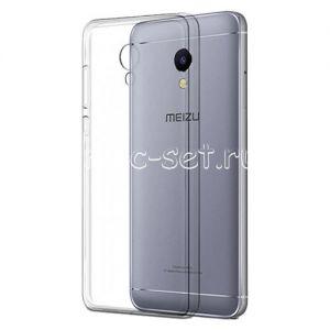 Чехол-накладка силиконовый для Meizu M5s [толщина 0.3 мм] (прозрачный)