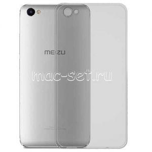 Чехол-накладка силиконовый для Meizu U10 (серый 0.5мм)