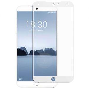 Защитное стекло для Meizu 15 Lite [на весь экран] (белое)