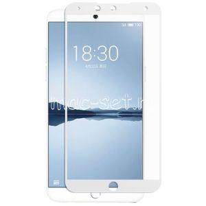 Защитное стекло для Meizu 15 Plus [на весь экран] (белое)
