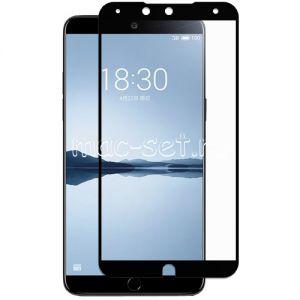 Защитное стекло для Meizu 15 Plus [на весь экран] (черное)