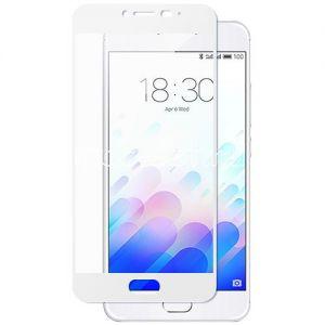 Защитное стекло для Meizu M3 Note [на весь экран] Aiwo (белое)