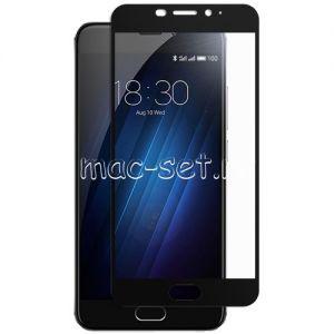 Защитное стекло для Meizu M3E [на весь экран] (черное)