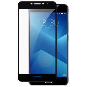 Защитное стекло для Meizu M5 Note [на весь экран] (черное)